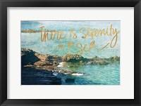 Framed Serenity At The Sea