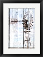 Framed White Washed Windmill