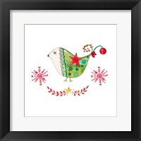 Framed Christmas Dove I