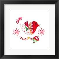 Framed Christmas Dove II