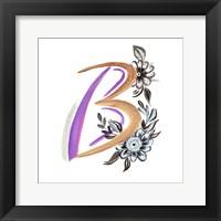 Framed Monogram B
