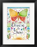 Framed Choose to Shine