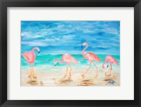 Framed Flamingo Beach