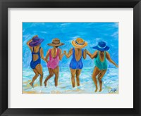 Framed Ladies on the Beach I