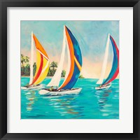 Framed Sunset Sails I
