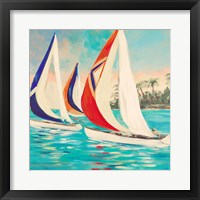 Framed Sunset Sails II