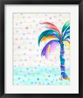 Framed Funky Palm on Dots I