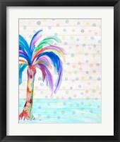 Framed Funky Palm on Dots II