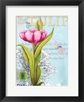 Framed Elegant Tulip I