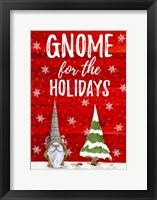 Framed Gnome for the Holidays