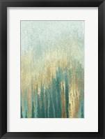 Framed Teal Golden Woods