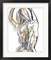 Framed Golden Woman