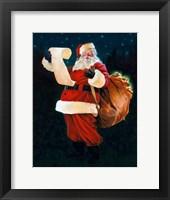 Framed Jolly Old Saint Nick
