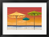 Framed Tropical Umbrellas I