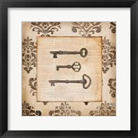 Framed Vintage Keys II