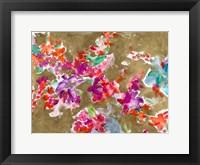 Framed Spring Florals on Gold