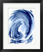 Framed Blue Swirl I