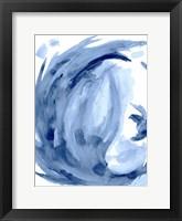 Framed Blue Swirl II
