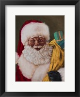 Framed African American Saint Nick Arrives