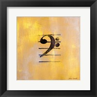 Framed Bass Clef