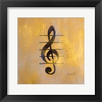 Framed Treble Clef