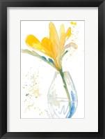 Framed Flowers in Clear Vase I