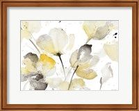 Framed Neutral Abstract Floral I