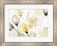 Framed Neutral Abstract Floral II