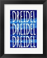 Framed Dreidel Blue Chant