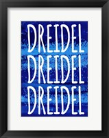 Framed Dreidel Blue Chant