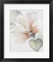 Framed Neutral Hibiscus II