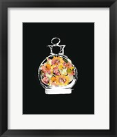 Framed Crystal Watercolor Perfume on Black I