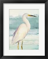 Framed Heron on Seaglass II