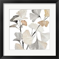 Neutral Ginko Stems I Framed Print
