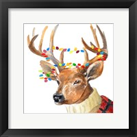 Framed Christmas Lights Reindeer Sweater