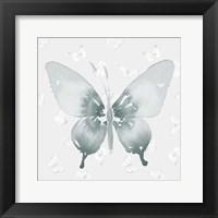 Framed Grey Watercolor Butterflies II