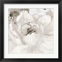 Framed Light Grey Flowers I