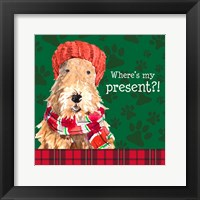 Framed Christmas Puppy I