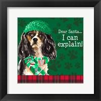 Framed Christmas Puppy II