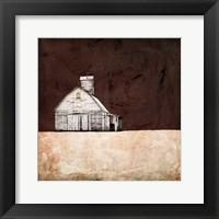 Framed Neutral Brown Farm