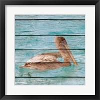 Framed Wood Pelican II