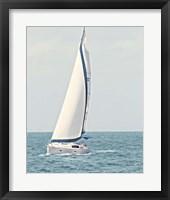 Framed Sailboat in the Ocean