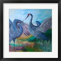 Framed Sandhill Cranes