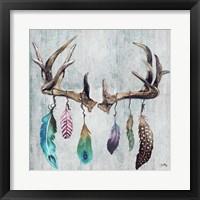 Framed Feathery Antlers II
