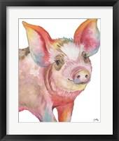 Framed Pig I