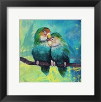 Framed Tropical Birds in Love I