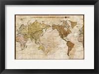Framed Map of World