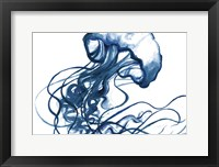 Framed Jellyfish In The Blues