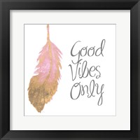 Good Vibes And Smiles II Framed Print