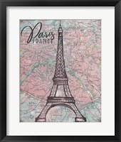 Framed Map of Paris